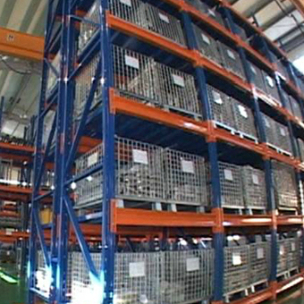 Stocking Racks in Warehouse
